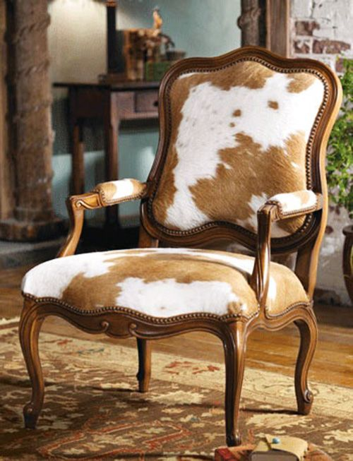 Cowhide On French Armchairs?