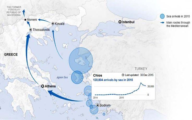 120.804 ψυχές αποβιβάστηκαν στη Χίο το 2015