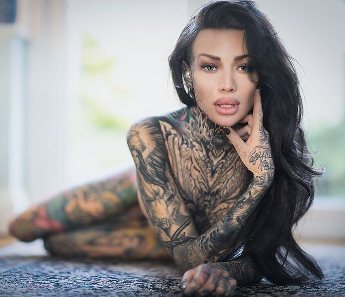 Tattoo model girl