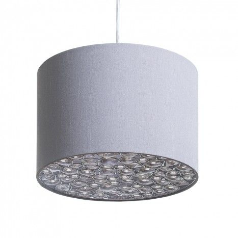 Ballagio easy to fit ceiling light shade silver from litecraft