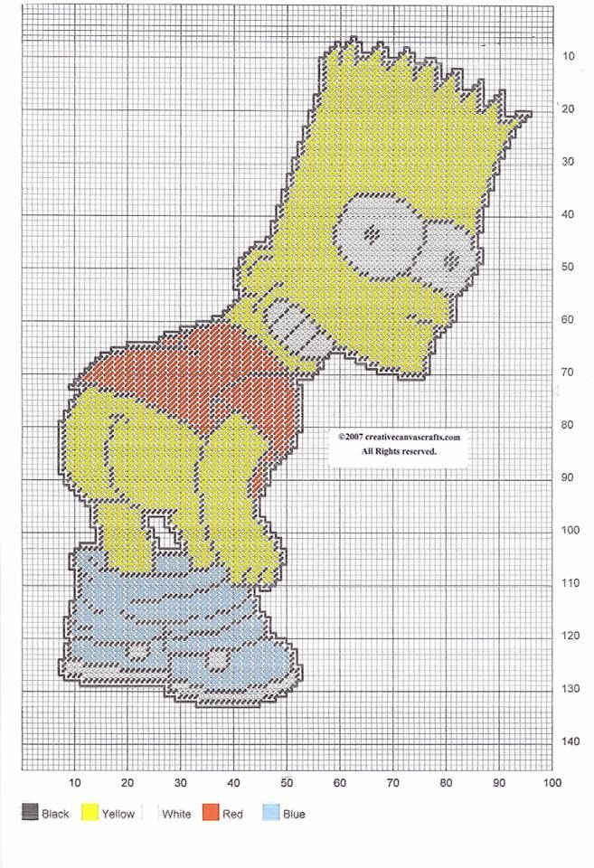 BAD BART WALL HANGING by CREATIVECANVASCRAFTS.COM