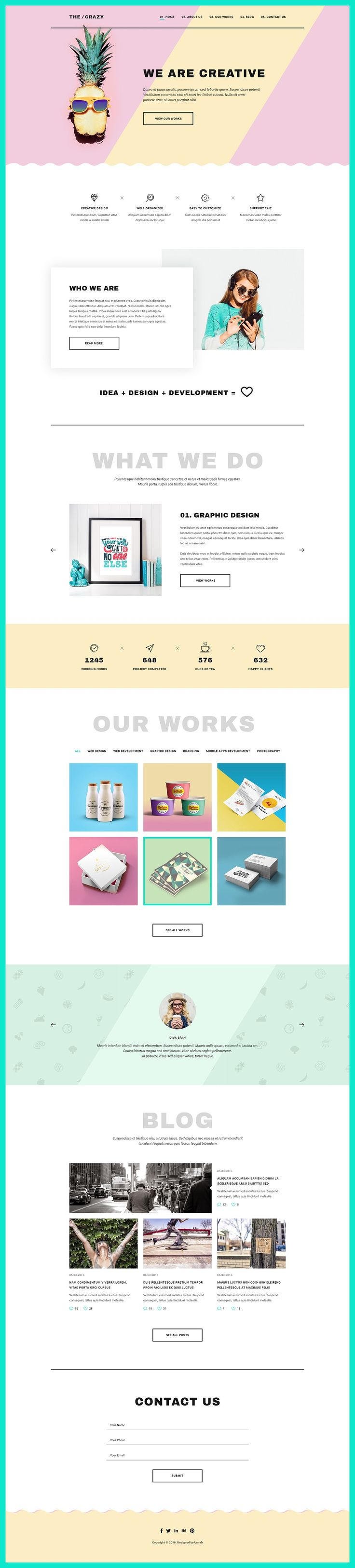 Creative & Modern WP Themes #DESIGN (Simple Top Design)