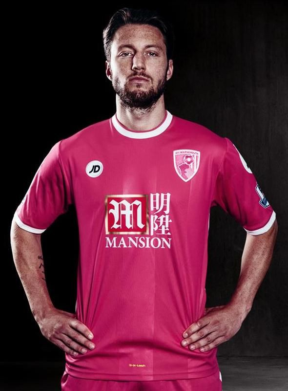 Pink Bournemouth Shirt 2015/16- New AFCB 3rd Kit 15/16 by JD
