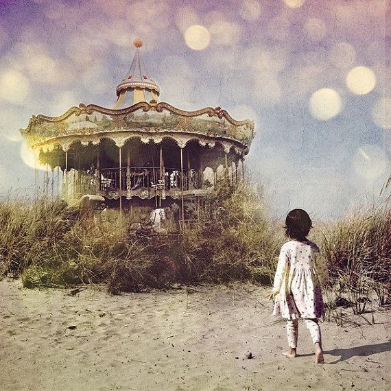 Merry Go Round 8x8 or 10x10 Inch Print by ThisYearsGirl on Etsy