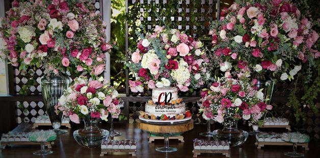 Mesa de bolo para casamento rustico #casamento #casamentorustico #wedding