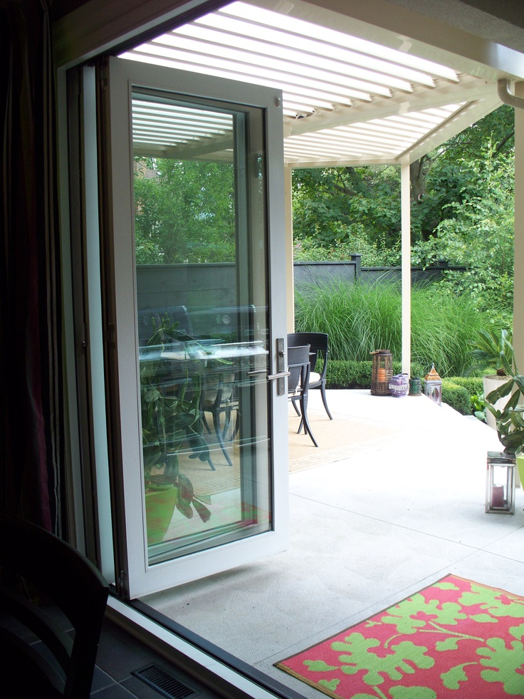 3 panel bi fold patio door dining pinterest patio for Patio door ideas