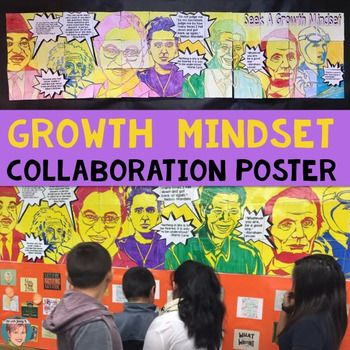 Start New Years 2017 off right by promoting a Growth Mindset in your classroom!  This poster is perfect for promoting healthy topics; specifically, how to overcome hardships!  Only $8.00 and worth it.  Be sure to post in a common area at your school when done!
