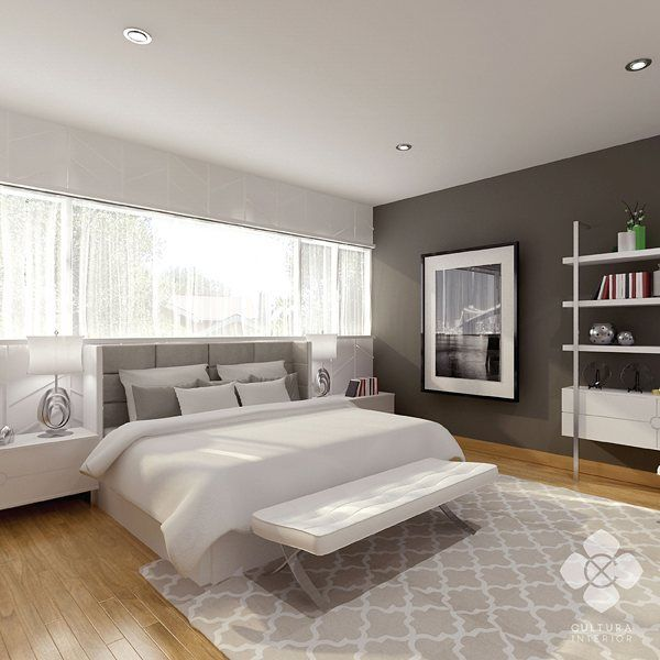 Light toned bedroom with comfortable wooden panel flooring and silver-white colored furniture choice. Simple and clean bedroom with fresh vibe.  Designed by @culturainterior  #interior #interordesign #interiorinspiration #bedroom #bedroominterior #houseinterior #interiorsemarang #interiorindonesia #culturainterior
