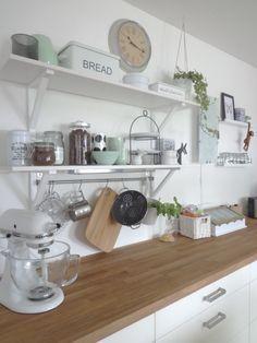 Küche mit neuem mintfarbenen Porzellan, Tags Eiche, Ikea, Mint, Weiss, Asa, Küche, Kitchen Aid