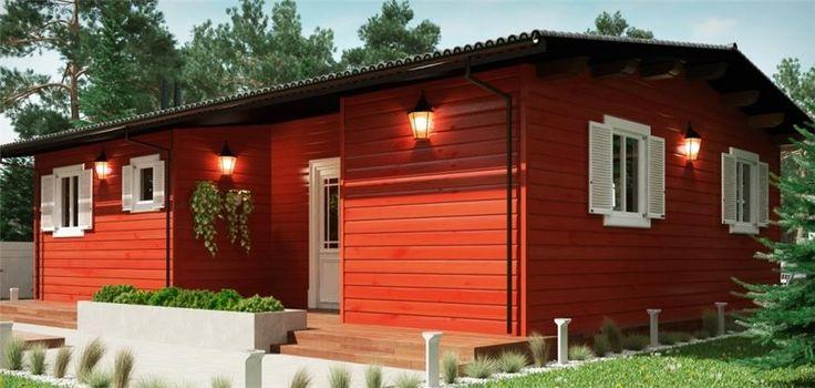 FENIX D 70 m² 45mm con porche, Bungalows de 45mm