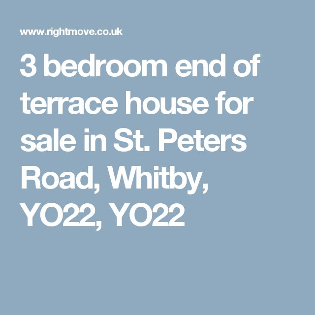 3 bedroom end of terrace house for sale in St. Peters Road, Whitby, YO22, YO22
