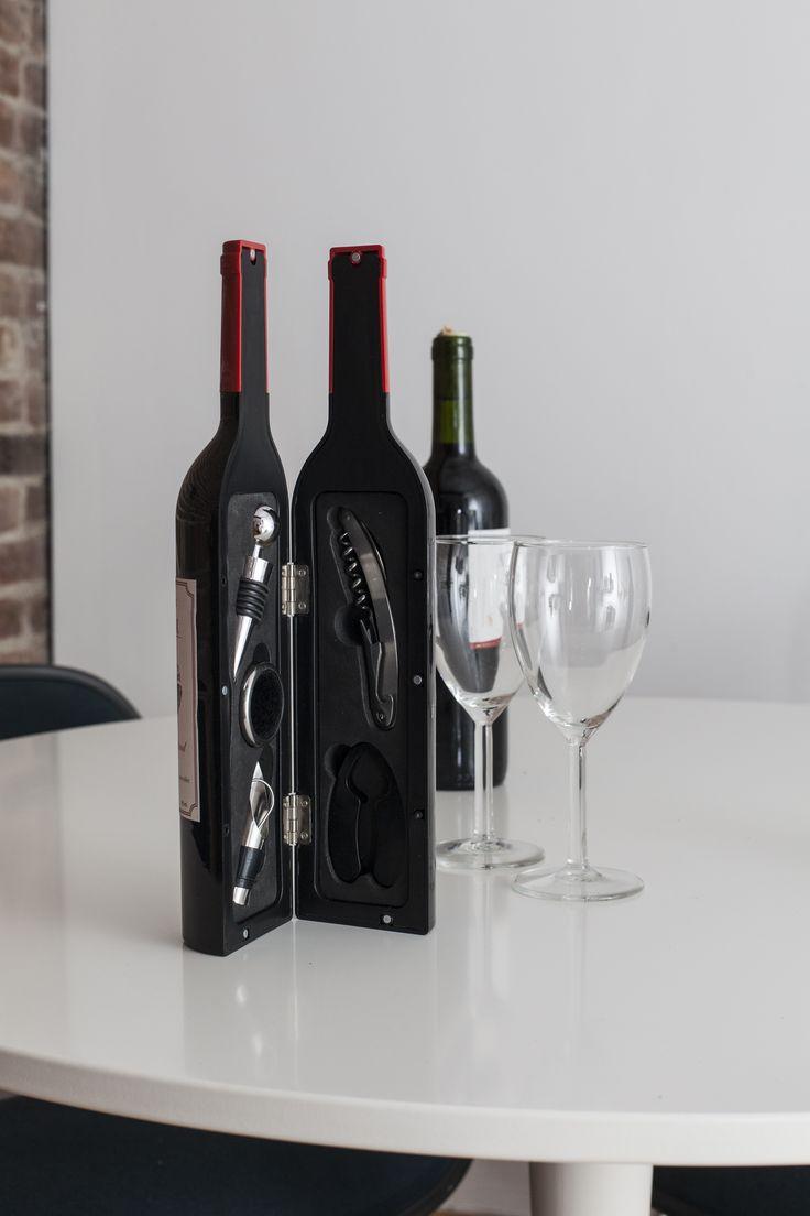 Set de accesorios para vinos www.masdiseno.com