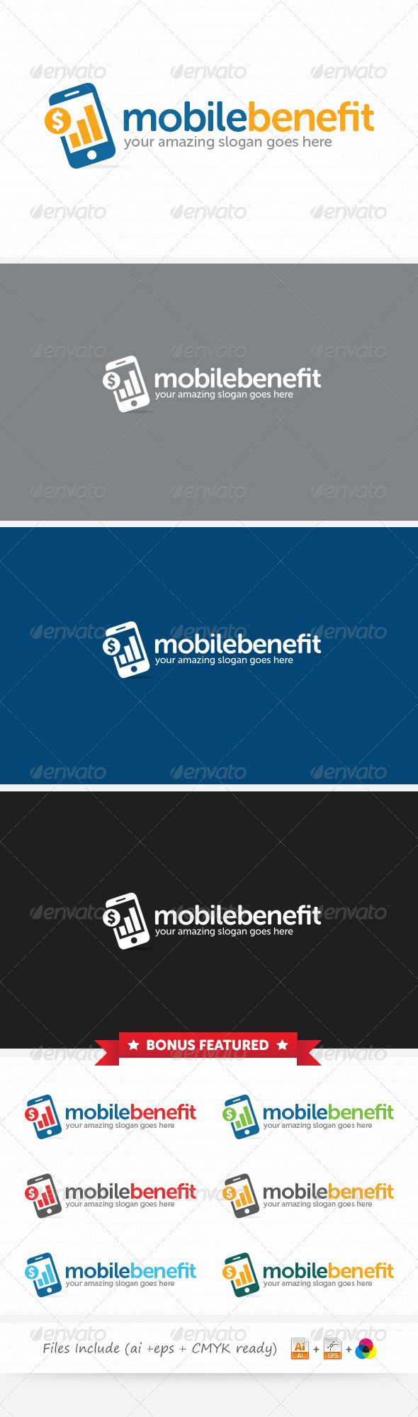 Mobile Benefit - Logo Design Template Vector #logotype Download it here: http://graphicriver.net/item/mobile-benefit-logo/6068603?s_rank=457?ref=nexion