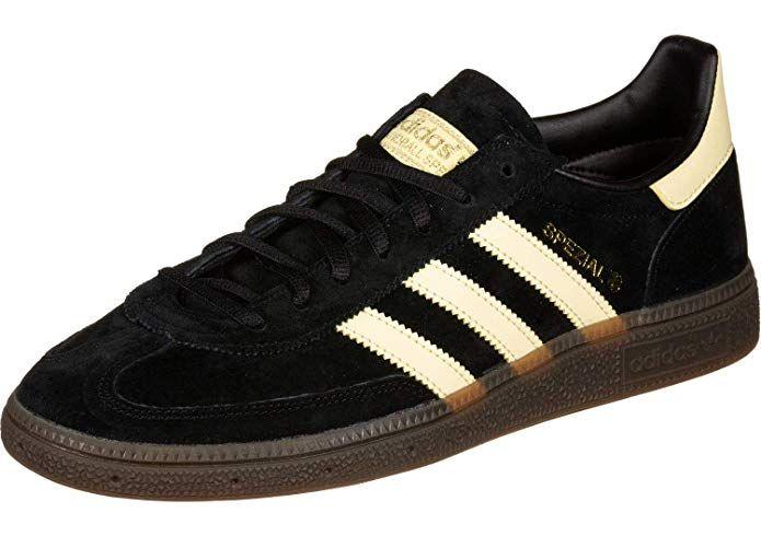 Adidas Spezial Sneakers Handball Schwarz Hellgelbe Streifen