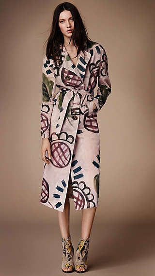 Hand-painted Organdy Trench Coat  Burberry