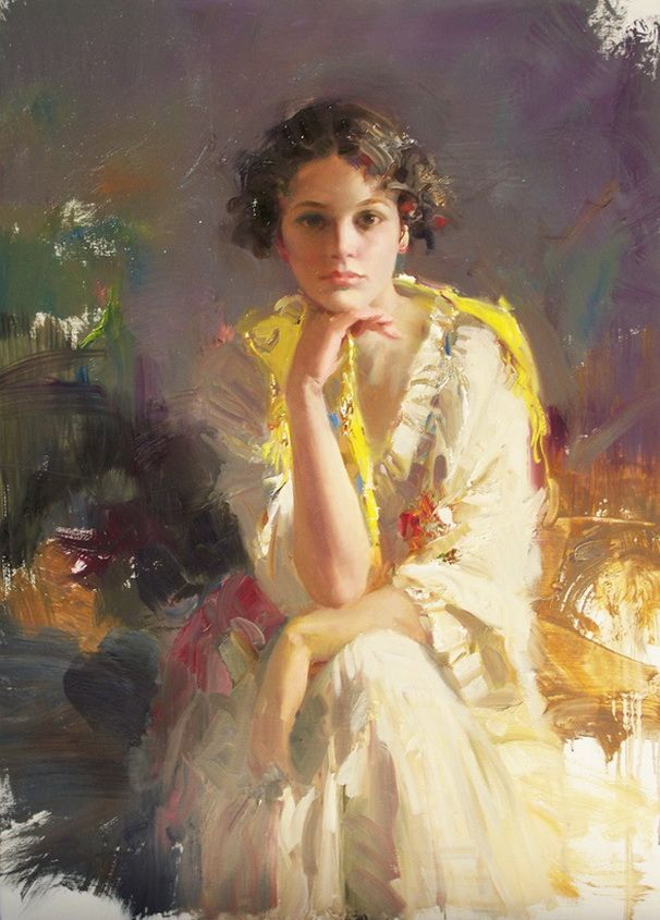 Pino Daeni- I wish I could paint like this...or be painted in such a lovely, sensitive style...