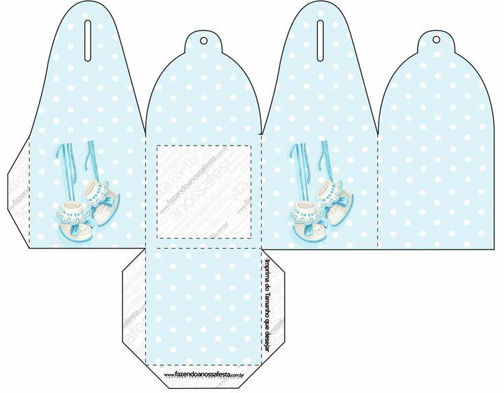 Zapatitos de beb cajas para imprimir gratis printable - Cajas decoradas para bebes ...