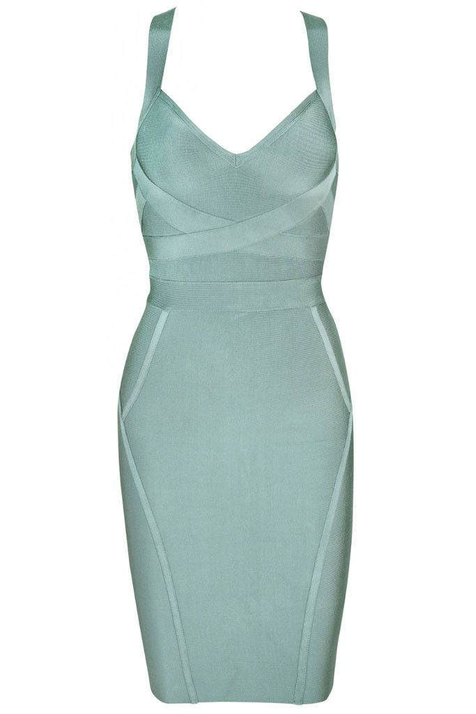 """Curves never hurt nobody! Live a little with this sculpting bodycon dress. V bust with overlaying style lines. Style with silver accessories. Above the knee length, back zipper closure *35"""" approx. le"""