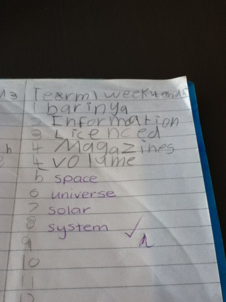 Amelia d spelling week four and five