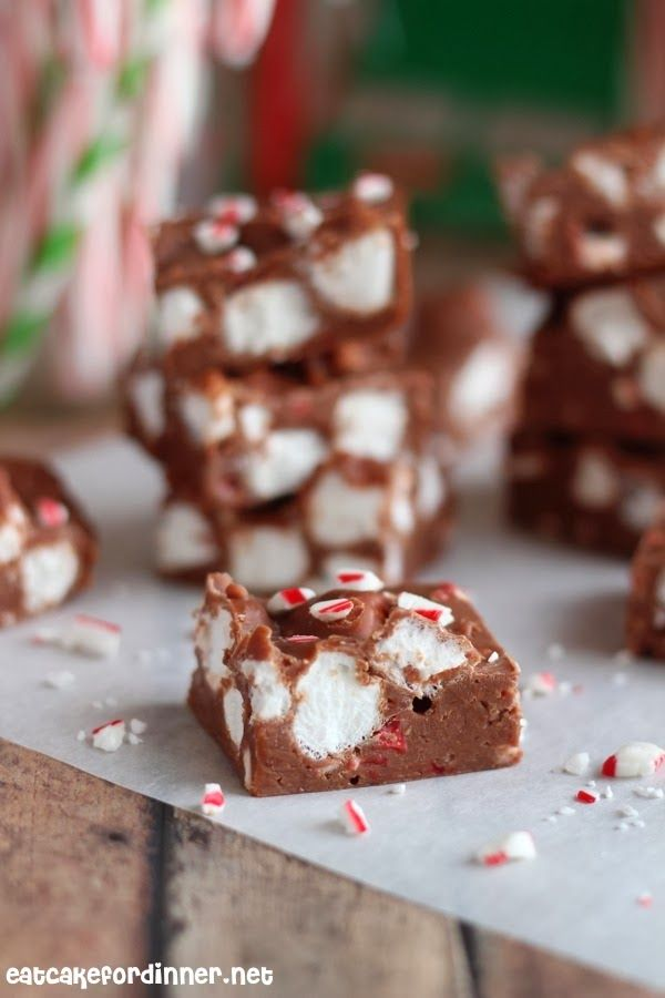 Candy Cane Marshmallow Fudge Recipe ~ It is rich and creamy and melts in your mouth.