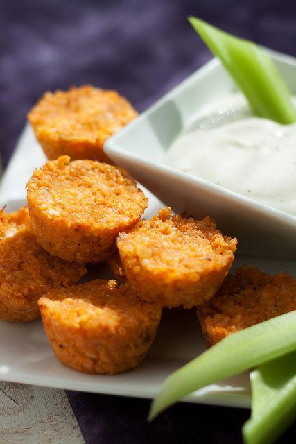 Recipe for Buffalo Chicken Quinoa Bites