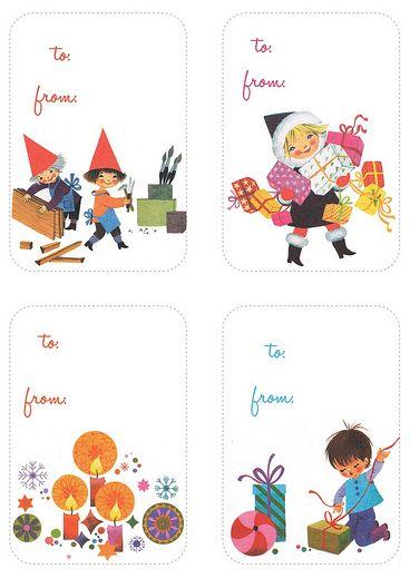 Free Printable Holiday Gift Tags via @momspark!