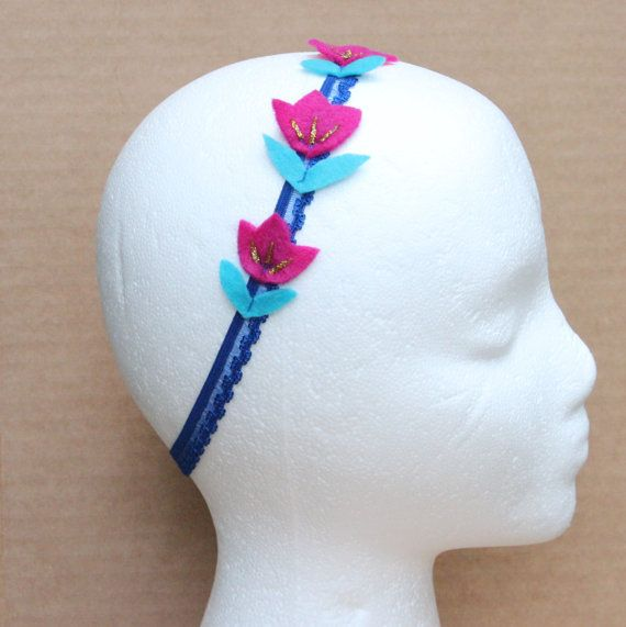 Anna headband  frozen headband  frozen themed party by BloomsNBugs, $17.00