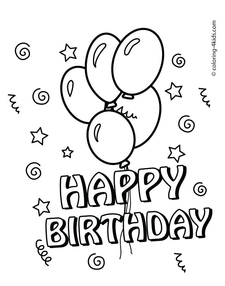 Dramatic image for free printable birthday coloring pages