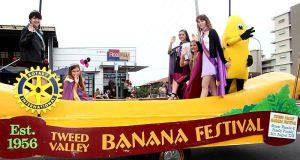 Tweed Banana Festival, Murwillumbah.  August event. A bit of quirky fun for the whole family.