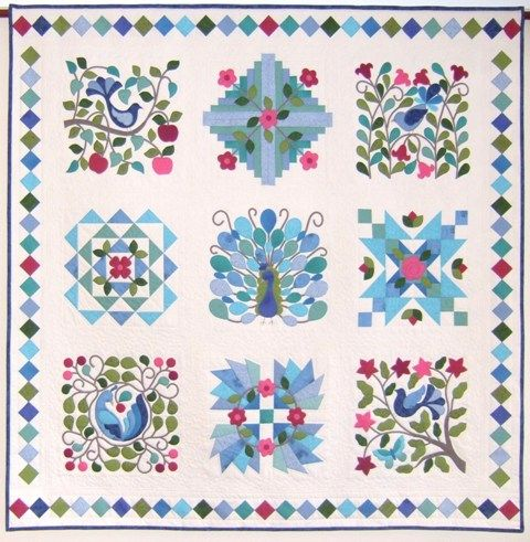 22 best monica poole quilt as you go images on pinterest factory peacocks garden complete pattern urtaz Image collections