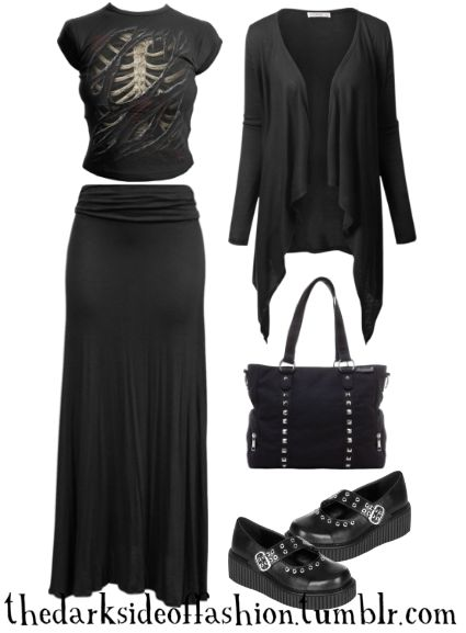Open Wound (store links below) Top $23 / Skirt $18 / Cardigan $20 / Bag $46 / Shoes $56