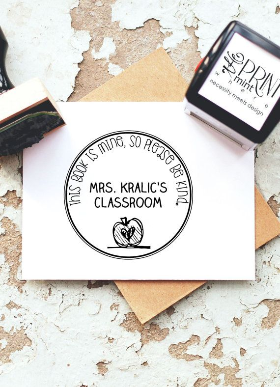 Teacher Stamp Custom Book Self-inking Stamp From by ThePrintMint