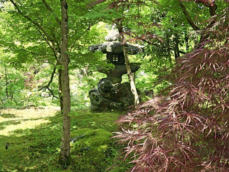 Stone lantern in the Gardens at Eikando May 2017