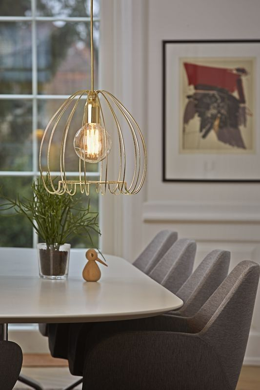 Add some warm metal to your home with the Nordlux Cage - complete in a stunning brass finish #modern #ceiling #lighting #design