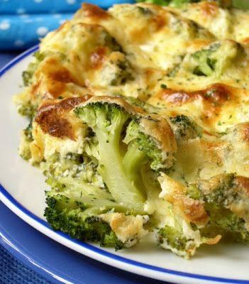 Brócoli y queso gratinado