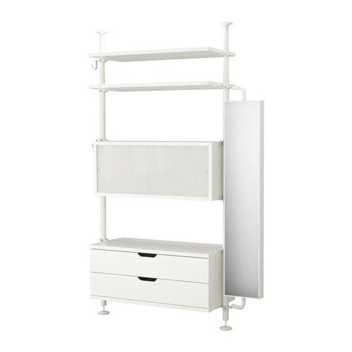 IKEA - STOLMEN, 1 element, , In hoogte verstelbaar van 210-330 cm, waardoor de gehele plafondhoogte benut kan worden.Kan worden gemonteerd in plafond of wand.Verborgen opbergruimte voor spullen die je onder handbereik wilt hebben.Schuifdeuren zijn ruimtebesparend.Wil je de binnenkant op orde houden, dan kan je het geheel completeren met de SKUBB bakken set van 6.De lade sluit de laatste centimeters vanzelf.