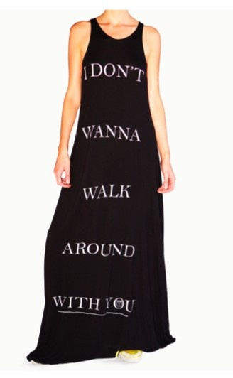 'I Don't Wanna Walk Around With You' Ramones Maxi Dress