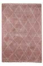 Ellos Home Ryamatta Tanger 160x230 cm Vitgrå/grå, Cremevit/mörkbrun, Rosa - Lugg & ryamattor | Ellos Mobile