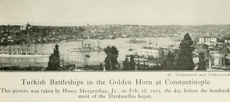 Osmanlı Savaş Gemileri Çanakkale Savaşında İstanbul'u Korumak İçin Boğaz'da Bekliyor  (Müttefik Donanması Çanakkale'yi Geçip İstanbul'a Ulaşabilseydi Ölümüne Birbirlerine Dalacaklardı)