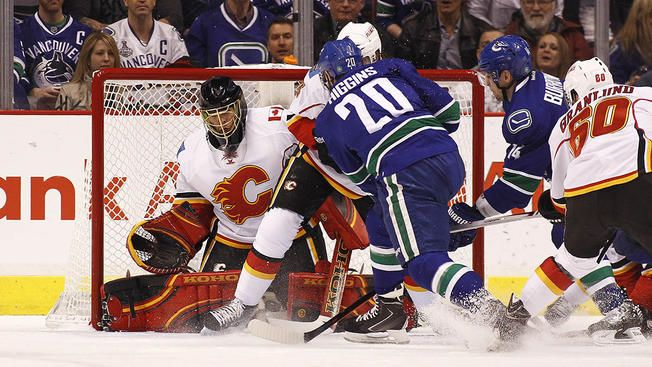 Canucks vs. Flames, 2015 NHL playoffs results: Vancouver evens series with 4 ... NHL Playoffs  #NHLPlayoffs