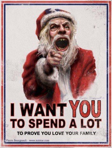 El Tío Sam y Papá Noel quieren que consumas másssss