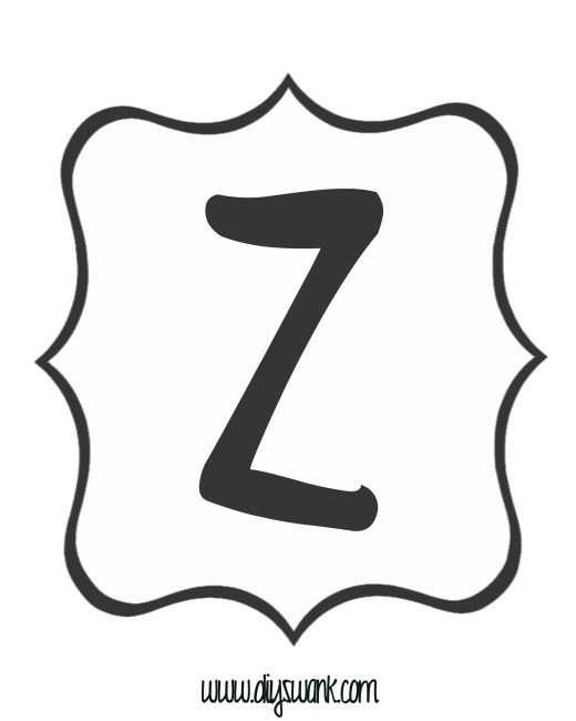 White and Black Letter_Z