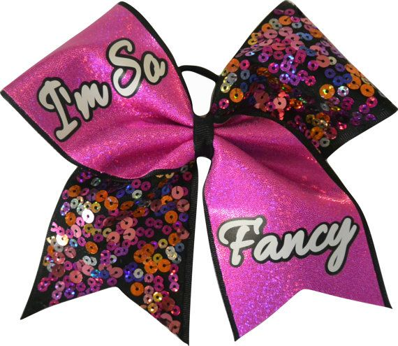 Hey, I found this really awesome Etsy listing at https://www.etsy.com/listing/194743841/im-so-fancy-sequin-large-cheer-bow