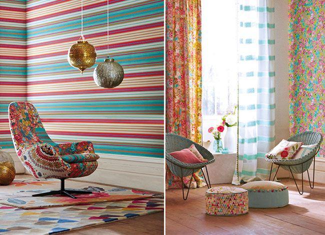Harlequin - Jardin Boheme Wallpapers -available from Vanilla Interiors
