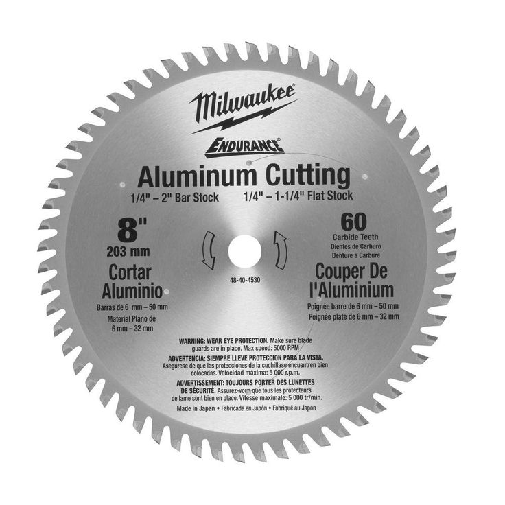 50 best circular saw blade images on pinterest circular saw milwaukee 8 in x 60 tooth aluminum metal cut circular saw blade greentooth Choice Image