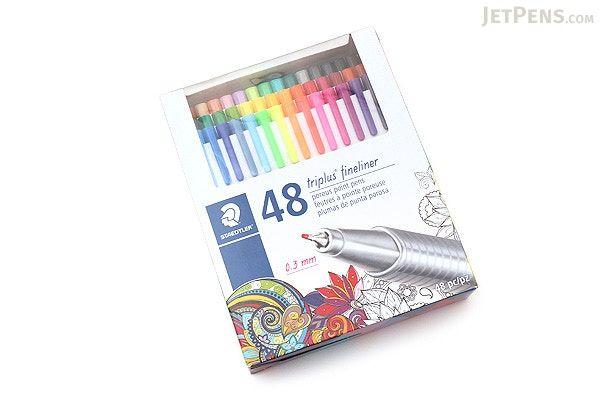 Staedtler Triplus Fineliner Pen 0 3 Mm 48 Color Set