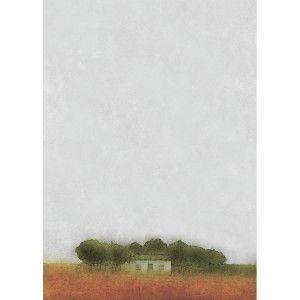 Сельская местность и солнечный день. Позитивные и яркие оттенки. На картине присутствуют желтые, зеленые и оранжевые краски, которые умело приправлены светло-лазурными и белыми цветами. Первое, что бросается в глаза – бескрайнее небо. Оно поражает своей чистотой и необъятностью.  http://handbird.kz/shop/painting/canvas-prints/kartina-domik-v-derevne/