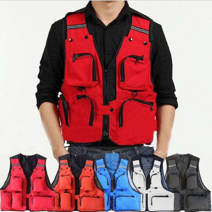 5 Colors Outdoor Hunting Fishing Vest For Men Multifunctional Quick-Drying Fly Fishing Vest Jacket Summer Photography Vest Coats