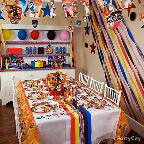 Power Rangers Party Ideas: Decorating - Click to View Larger