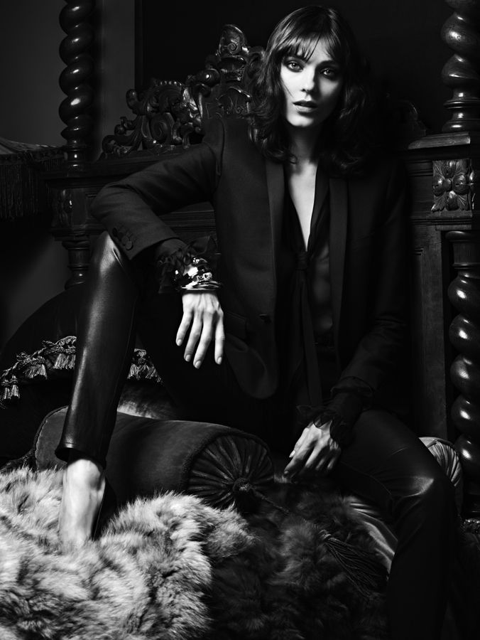 Kati Nescher by Hedi Slimane for Saint Laurent F/W 2012